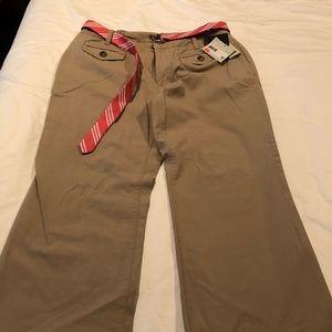 Belted Khaki Pants